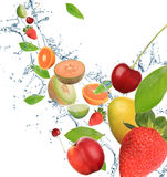 Fresh fruit in motion Stock Photo