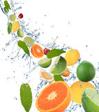 Fresh fruit in motion Royalty Free Stock Photo