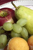 Fresh fruit and muffins Stock Photography