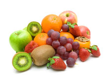 Fresh Fruit On A White Background Close-up. Royalty Free Stock Images