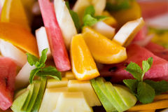 Fresh fruit party plate Stock Photo