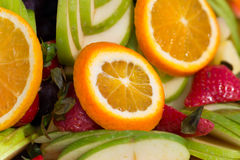 Fresh fruit party plate Stock Images
