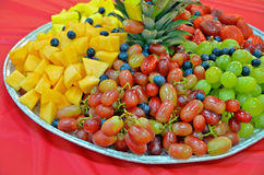 Fresh fruit party platter Stock Image