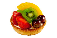 Fresh Fruit Pastry #1. Delicious pastry with fresh fruits on isolated background Stock Photos