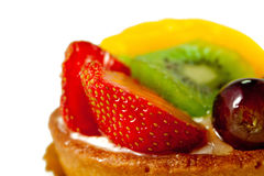Fresh Fruit Pastry #2. Delicious pastry with fresh fruits on isolated background Royalty Free Stock Photos