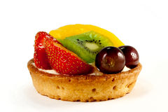 Fresh Fruit Pastry - 4. Delicious pastry with fresh fruits on isolated background Stock Photo