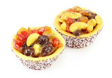 Fresh fruit pie tart Stock Photos