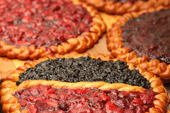 Fresh fruit pies Royalty Free Stock Photos