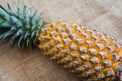 Fresh fruit pineapple healthy food. Fresh fruit pineapple or Ananas comosus is a tropical plant with an edible multiple fruit consisting of coalesced berries Stock Photography