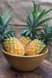 Fresh fruit pineapple healthy food. Royalty Free Stock Photography