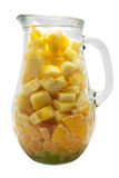 Fresh fruit pitcher isolated on white Royalty Free Stock Images