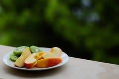 Fresh fruit plate Stock Image