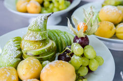 Fresh fruit on plate Stock Image