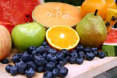 Fresh fruit. Platter of fresh healthy fruit Royalty Free Stock Photography