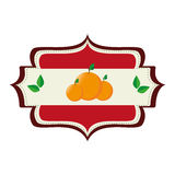 Fresh fruit product seal Royalty Free Stock Images