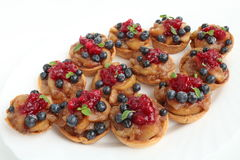 Fresh fruit in a puff-pastry shell Royalty Free Stock Images