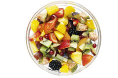 Fresh fruit salad. On white background Stock Photo