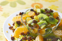 Fresh fruit salad. Royalty Free Stock Images