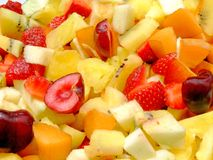 Fresh fruit salad. Close-up of an healthy fresh fruit salad Royalty Free Stock Photography