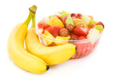 Fresh Fruit Salad with Bananas royalty free stock photo