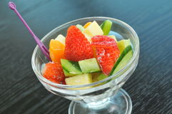 Fresh fruit salad. In the bowl Stock Photos