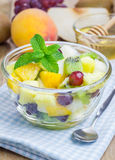 Fresh fruit salad in a bowl Stock Photos
