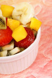 Fresh fruit salad close-up Royalty Free Stock Photos