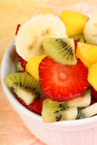 Fresh fruit salad close-up Stock Photos