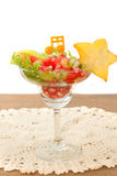 Fresh fruit salad , fusion food Royalty Free Stock Image