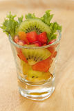 Fresh fruit salad in glasses Stock Photography