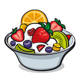 Fresh fruit salad. Illustration of fresh fruit salad Royalty Free Stock Photo