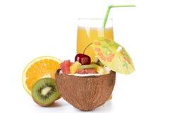 Fresh fruit salad and juice. Royalty Free Stock Photos