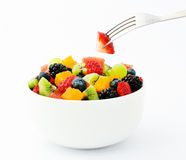 Fresh fruit salad mix Royalty Free Stock Photos