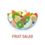 Fresh fruit salad Royalty Free Stock Photos