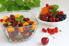 Fresh fruit salad. Fruit salad with mixed fruit Shallow DOF stock photography