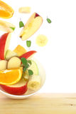 Fresh fruit salad with pieces Stock Image