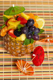 Fresh Fruit Salad in a Pineapple Royalty Free Stock Image