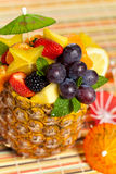 Fresh Fruit Salad in a Pineapple Royalty Free Stock Photography
