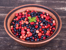 Fresh fruit salad with strawberries and blueberries Stock Photography