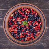 Fresh fruit salad with strawberries and blueberries , wild berry Royalty Free Stock Image