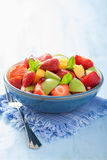 Fresh fruit salad with strawberry, apple, nectarine, pomegranate Royalty Free Stock Photo