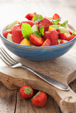 Fresh fruit salad with strawberry, apple, nectarine, pomegranate Stock Photography
