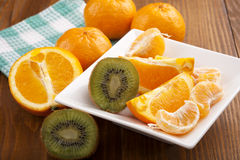 Fresh fruit salad Royalty Free Stock Images