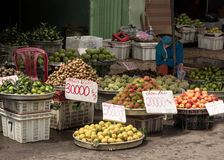 Fresh fruit for sale on asia market Stock Photography