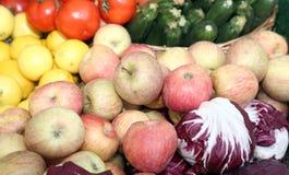 Fresh fruit for sale at vegetable market Royalty Free Stock Image