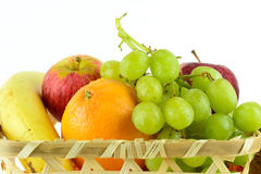 Fresh fruit. A selection of fresh fruits in a basket Royalty Free Stock Images