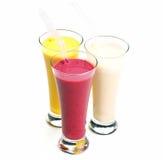 Fresh fruit shake drink stock photos