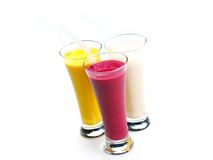 Fresh fruit shake drink stock photo