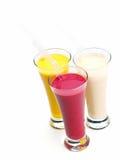 Fresh fruit shake drink stock images