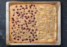 Fresh fruit sheet cake Stock Photos
